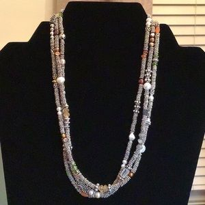 Jewelry - 💗Bali 3 Strand Sterling &Semi-precious Necklace